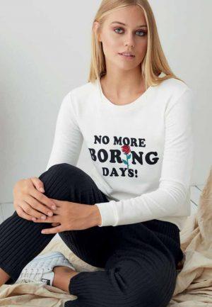 Дамска плътна пижама 100% памук