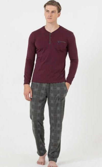 Мъжка пижама Бордо