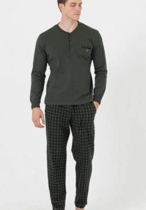 Мъжка пижама Зелено