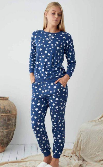 Памучна пижама Звезди